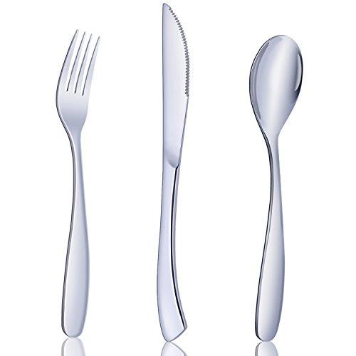 Flatware Set 36-Piece Silverware Set Pofesun Stainless Steel Home Kitchen Hotel Restaurant Tableware Cutlery Set Knives Forks Spoons Service for 12 Dishwasher Safe