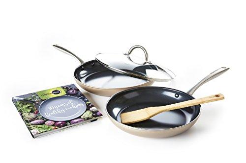 GreenPan Limited Edition 10th Anniversary 5pc Ceramic Non-Stick Cookware Set Bronze