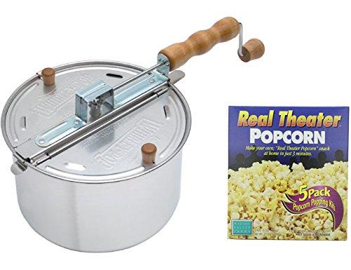 Wabash Valley Farms Whirley Pop Stovetop Popcorn Popper w 5 Popcorn Packs