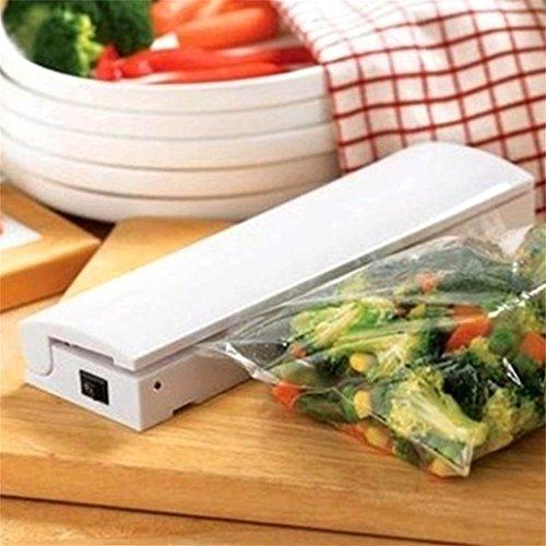 Baost White Mini Portable Reseal and Save Food Saver Storage Bag Sealer Vacuum Packer