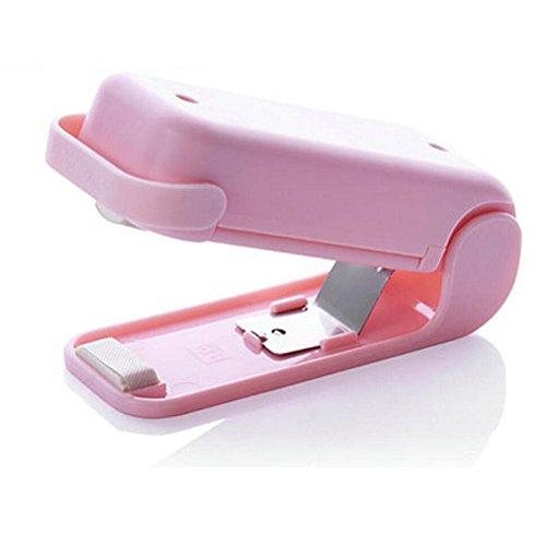OMIU PVC Portable Food Sealer Household Mini Sealing Machine Heat Bag Sealer Capper Food Saver Storage Bags Package Pink