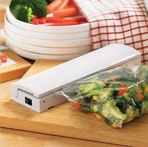 Portable Reseal and Save Handy Plastic Food Saver Storage Bag Sealer Keep Food Fresh Reduce Waste Vacuum Packer