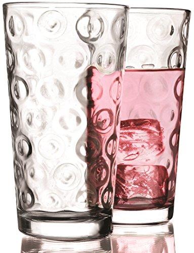 Circleware Circles Huge Drinking Glasses Set of 10 17 oz Clear