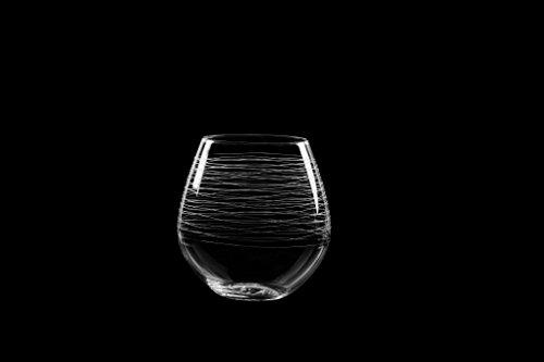 Qualia Glass Set of 4 Graffiti 12 Ounce Stemless Red Wine Glass