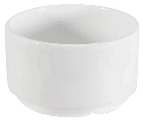 Glacier White Stackable Porcelain Soup Bowl  9 oz