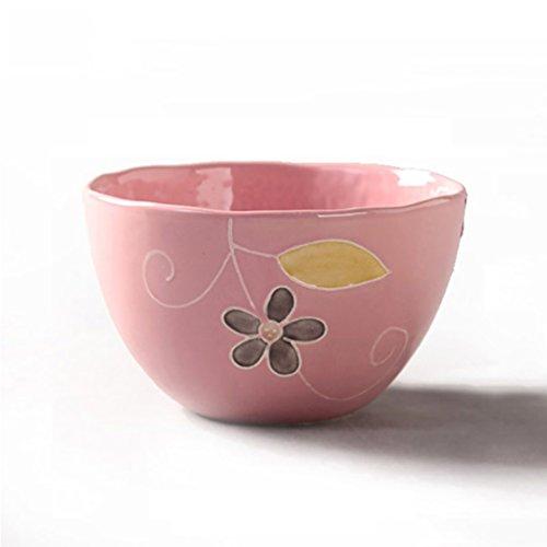 "Onlycook Porcelain Bowls Sets 45""Hand Painted Ceramics for SaladPastaSoupRice 45 pink"