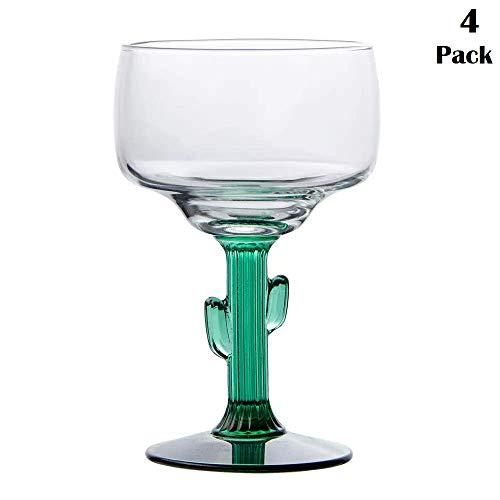 Libbey Cactus Margarita Glasses Set of 4 12 oz