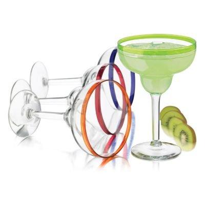 Libbey Colors Margarita Glass Set 4-Piece