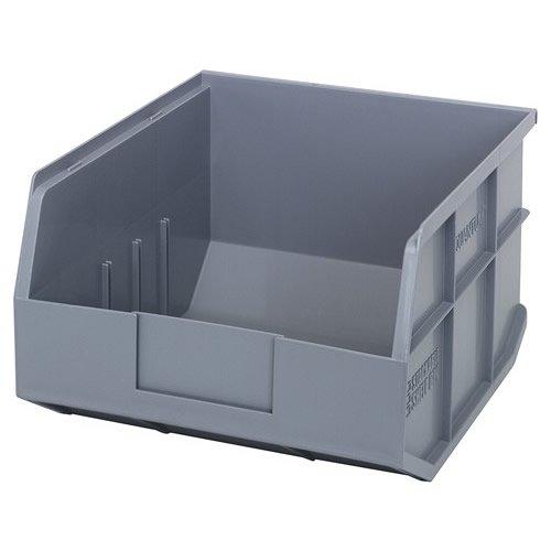 12 L x 11 W x 7 H Gray Stackable Shelf Bin 1 Bin