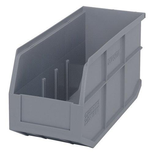 14 L x 6 W x 7 H Gray Stackable Shelf Bin 1 Bin