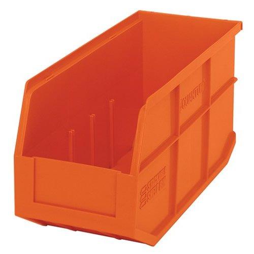 14 L x 6 W x 7 H Orange Stackable Shelf Bin 1 Bin