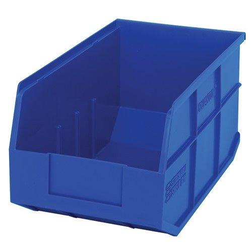 14 L x 8-14 W x 7 H Blue Stackable Shelf Bin 1 Bin