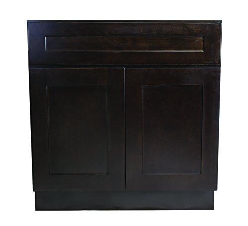 Design House 562074 Brookings 33-Inch Sink Base Cabinet Espresso Shaker