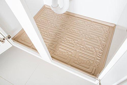 Xtreme Mats Under Sink Bathroom Cabinet Mat 24 58 X 18 78 Beige