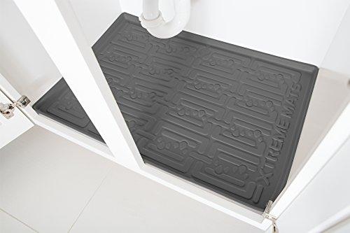 Xtreme Mats Under Sink Bathroom Cabinet Mat 27 58 X 18 78 Grey