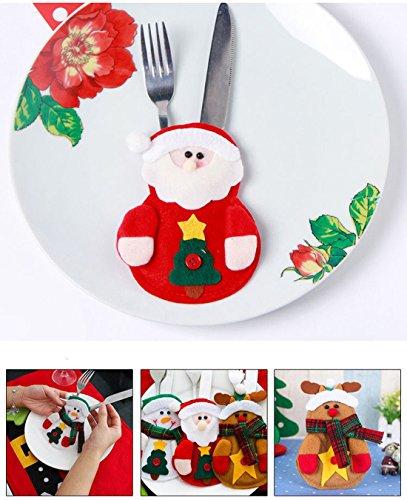 JMG 3Pcs Christmas Santa Suit Silverware Cutlery Holders Tableware Xmax Decorations