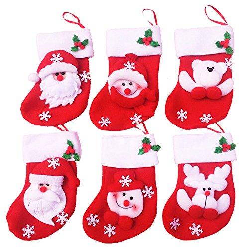 Coosa 6PCS Silverware Holder Pockets Knifes Folks Bags Christmas Cutlery Holders Kitchen Table – 3 Set6PCS-2