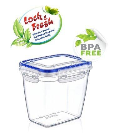 Lock&Fresh BPA Free Plastic Sealed food Storage Container Set 5 pcs 17 oz- 127 oz