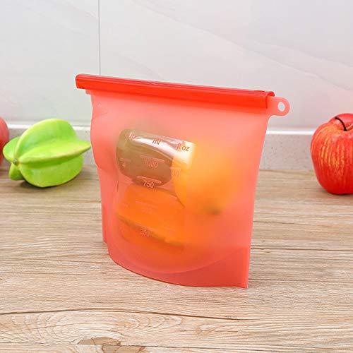 XUENUOS 1000Ml Silicone Fresh-Keeping Vacuum Sealed Food Storage Bag Refrigerator Food Storage Bag Container
