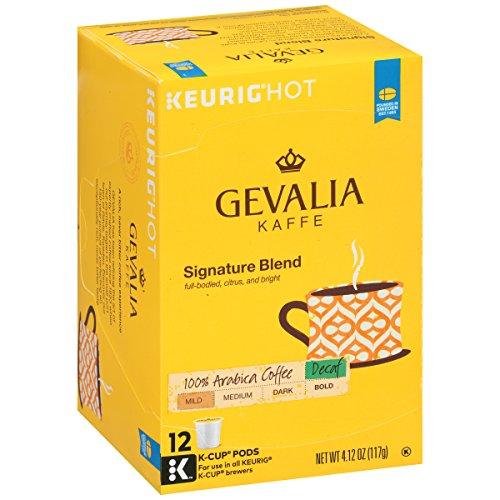 Gevalia Signature Blend DECAF K-Cup Packs 12 count Pack of 6