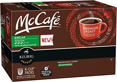 McCafé Premium Medium Roast DECAF K-Cup Packs  12 count Pack of 6