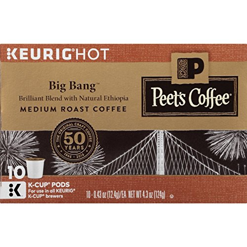Peets Coffee K-Cup Packs Big Bang Medium Roast Coffee 10 Count Pack of 4