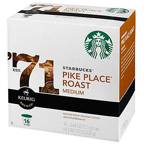 Starbucks Pike Place Roast K-CupPacks 96 count Premium Coffee Blend Best Gourmet Coffee Specialty Roasted Beans Espressos