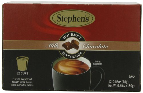 Stephens Gourmet Single Cup Hot Cocoa Milk Chocolate 12 Count 635 oz
