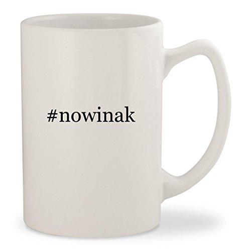 nowinak - White Hashtag 14oz Ceramic Statesman Coffee Mug Cup