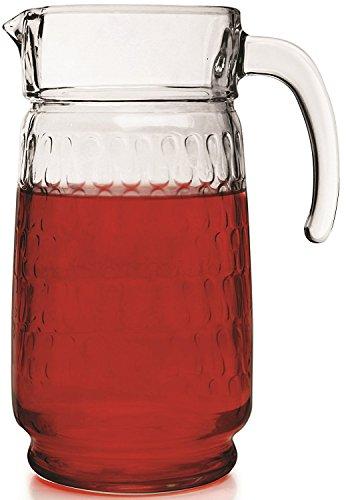 Circleware Vortex Glass Beverage Drink Pitcher 64 Ounce Limited Edition Glassware Drinkware Water Dispenser