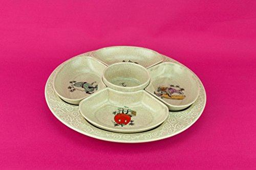Large Pottery Platter Mid-Century Modern Grey S Fielding Co Vintage Victorian English Circa 1960 Crown Devon Starter Serving Dish