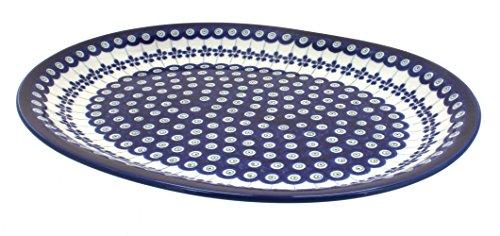 Polish Pottery Flowering Peacock Large Serving Platter