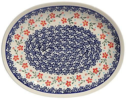 Polish Pottery Large Serving Platter Zaklady Ceramiczne Boleslawiec 1007-964