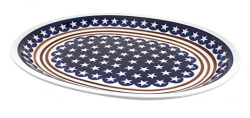 Polish Pottery Stars and Stripes Large Serving Platter