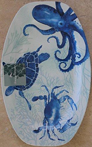 Tommy Bahama Ocean Life 100 Melamine Large Serving Platter - 16 x 10