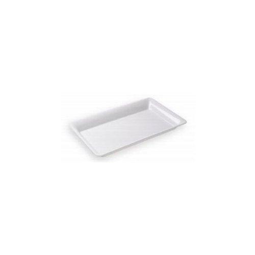 White Plastic Serving Tray Rectangular 18
