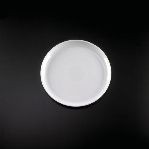 12 WHITE ELEGANT ROUND DESIGNED PLASTIC CAKE PLATTER TRAYS 25CS