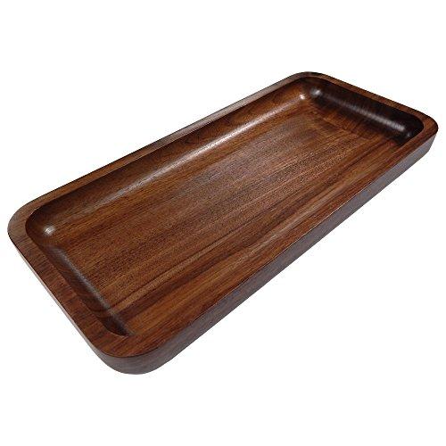 Irving Solid Walnut Wood Rectangular Display Platter  Tray - Small