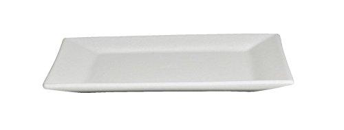 GET PS004WW Bugambilia Square Serving Platter 15 Mod White
