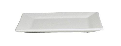 GET PS005WW Bugambilia Flat Square Serving Platter 177 Mod White