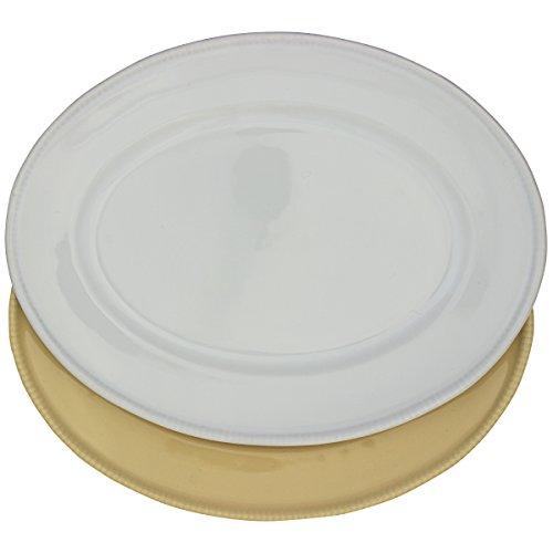EURO ceramica douro oval platter dish white