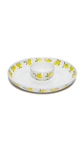 Kate Spade New York 176133 Lemon Melamine Chip Dip Bowl Bright Yellow