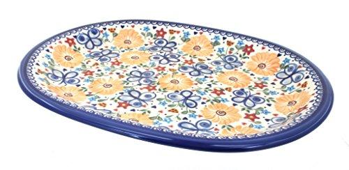Polish Pottery Butterfly Large Oval Serving Platter