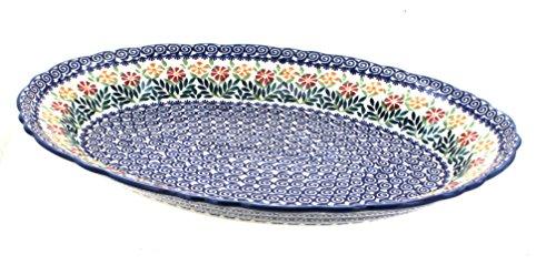 Polish Pottery Garden Bouquet Large Oval Serving Platter