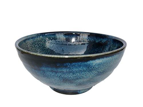 Japanese 40 fl oz Sanuki Bowl Donburi Udon Noodle Ramen Soup Pasta Serving bowl Authentic Mino Ware Navy M50022 from Japan