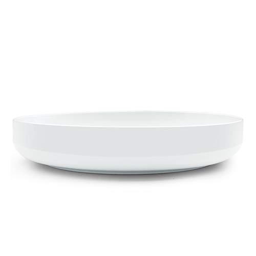 SURFLORA 13 Inches 120oz 35 Quarts Extra Large and Wide White Porcelain Pasta Salad Serving Bowl Bone China