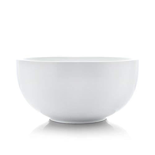 SURFLORA 95 Inches 3 Quarts Super Large Porcelain Serving Bowl of Salad Pasta Soup Thick Bowl Wall White