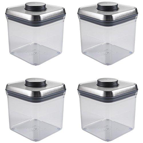 OXO SteeL POP 24-Quart Square Container Set of 4