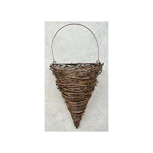 Twig Vine Cone Pocket Wall Basket Country Primitive Décor