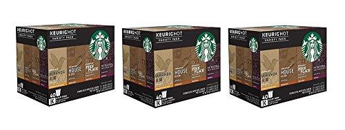 Starbucks Coffee JDGRV Keurig K-Cup Variety Pack 40 Count 3 Pack